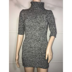 Grey Knit Sweater Dress